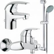 Купить Grohe Euroeco 123226 смесители для умывальника,ванны,стойка