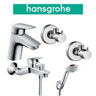Купить Hansgrohe Logis 70 (710714410) Набор для ванны 4 в 1 хром