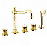 Купить Fiore Venere Sky (13OO0607) Смеситель для ванны золото/Swarovski