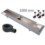Купить Дренажный канал TECEdrainline в комплекте, 1000 мм (601000-650000-660003)