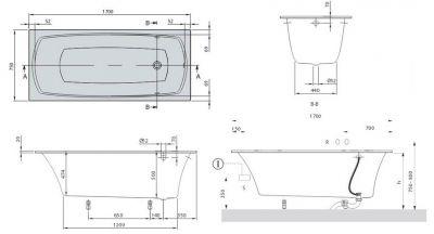 Купить Ванна квариловая 170х75 см Villeroy Boch My Art (UBQ170MYA2V-01)