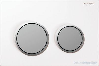 Купить Кнопка смыва Geberit Omega20, белый/хром матовый (115.085.KL.1)