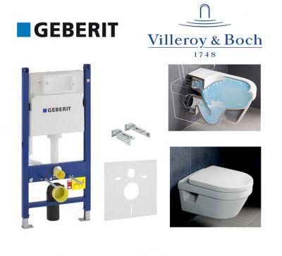Купить Инсталляция Geberit Duofix 458.126.00.1 комплект (3 в 1) с унитазом Villeroy & Boch Omnia Architectura 5684HR01 Directflush (без ободка) с сиденьем Soft Close
