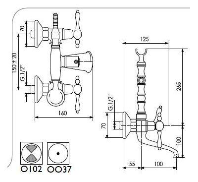 Купить Смеситель для ванны хром Giulin Praga (7501)