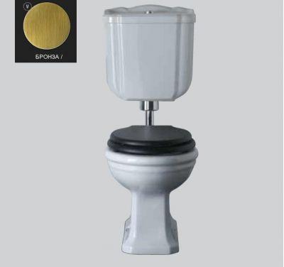 Купить Унитаз с средним бачком и механизмом бронза Globo Paestum (PA002BI-PA114BI-BA009)