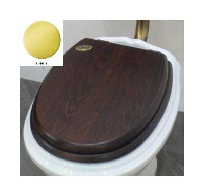 Купить Крышка для унитаза дерево золото Simas Arcade (AR009ORO)