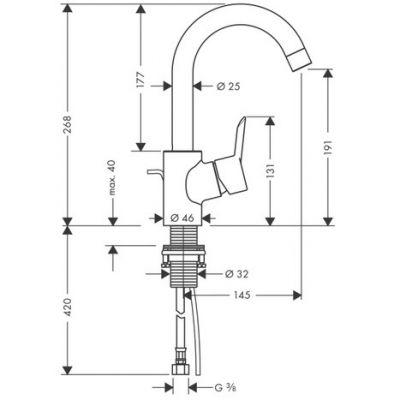 Купить Смеситель для раковины хром Hansgrohe Focus S (31710000)
