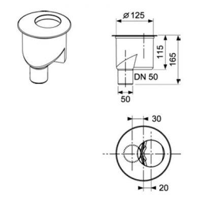 Купить Сифон вертикальный DN 50, производительность 1,3 л/с TECEdrinline (650003)