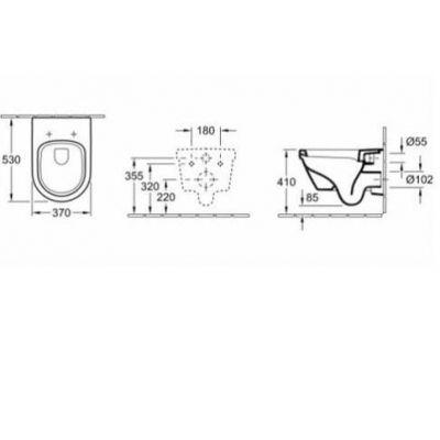 Купить Унитаз подвесной с крышкой Villeroy Boch Omnia Architectura (5684H101)