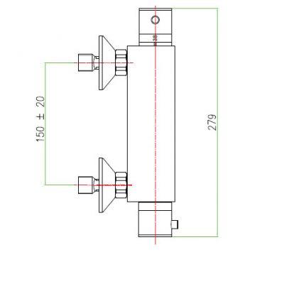 Купить Fiore X-Termo (31CR0970) Смеситель-термостат хром