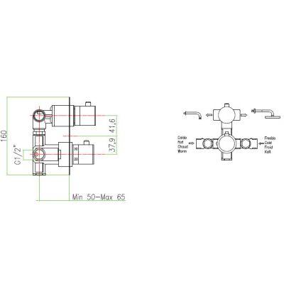 Купить Fiore X-Termo (31CR0993) Смеситель-термостат хром
