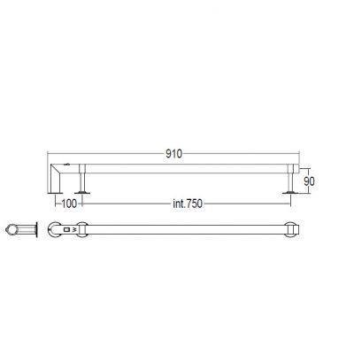 Купить Margaroli Arcobaleno (616/S/B/CR) Полотенцесушитель электрический хром 90 см
