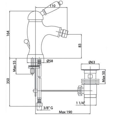 Купить Fiore Imperial (83CR5321) Смеситель для биде хром/керамика