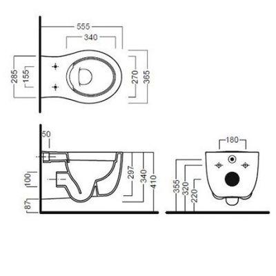 Купить Hatria Le Fiabe (Y1CD-YXWW) Унитаз подвесной без ободка с крышкой soft-close