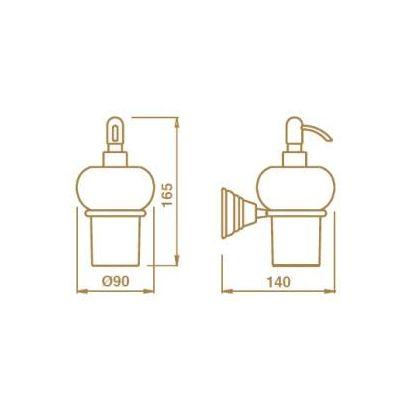 Купить Дозатор керамика хром Canova (CA12851)