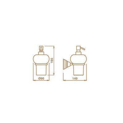 Купить Дозатор керамика золото Canova (CA12852)