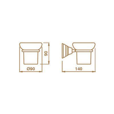 Купить Стакан подвесной керамика/хром Canova (CA14251)