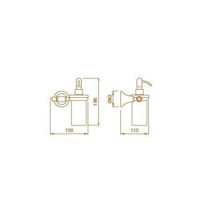 Купить Дозатор жидкого мыла керамический бронза Tempo (TM12892)