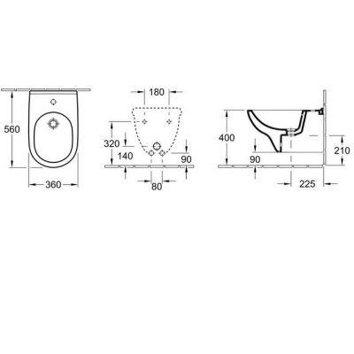 Купить Биде подвесное Villeroy Boch O.novo (54600001)