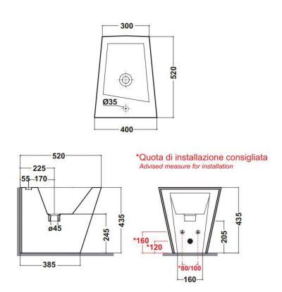 Купить Биде напольное Olympia Ceramica Crystal (05KR)