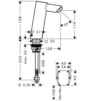 Купить Смеситель для раковины, электронный, с регулировкой температуры хром Hansgrohe Talis (32110000)