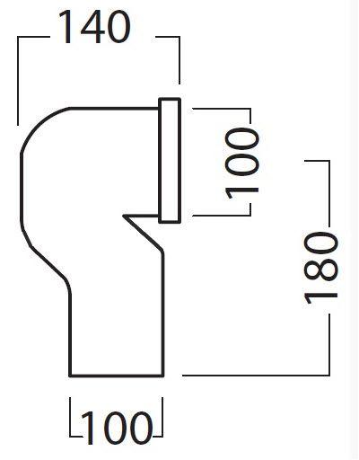 Купить Отвод для унитаза 90 градусов в пол Hatria (YH17)