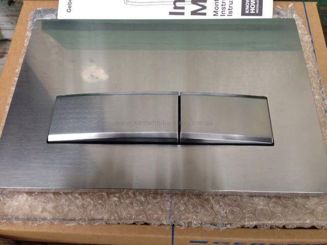 Купить Кнопка смыва Geberit Sigma50, цинковое литье/брашированный хром (115.788.GH.5)