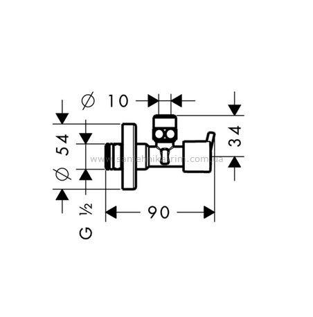 Купить Вентиль угловой 1/2 x 3/8 Hansgrohe (13901000)