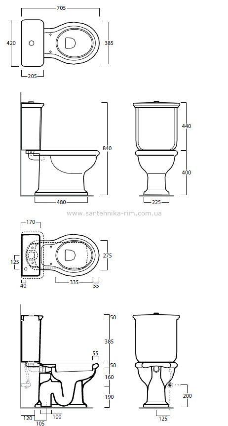 Купить Унитаз с бачком и механизмом хром Simas Lante (LA07-L09-D25CR)