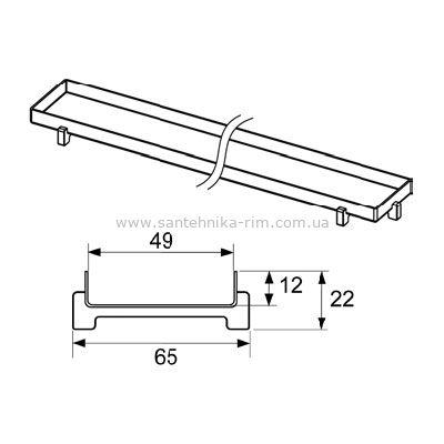 Купить Решетка-основа для плитки 150 см Plate Tecedrainline (601570)