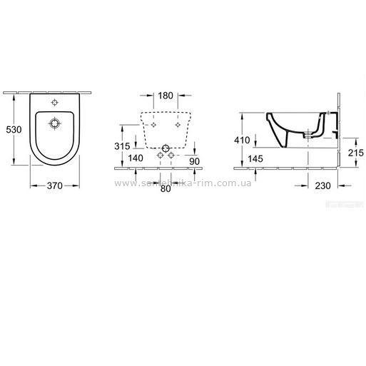Купить Биде подвесное Villeroy Boch Omnia Architectura (54840001)