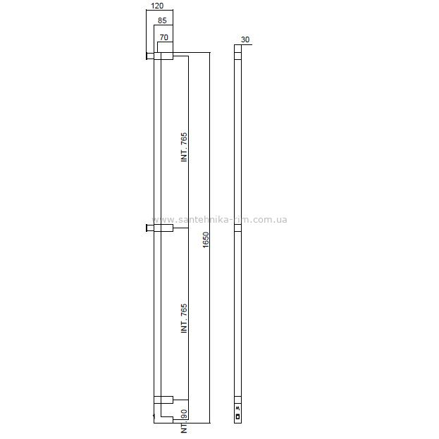 Купить Margaroli Panorama (666/L/B/CR) Полотенцесушитель электрический хром 165 см