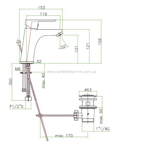 Купить Fiore Kevon (81CR8123) Смеситель для раковины хром