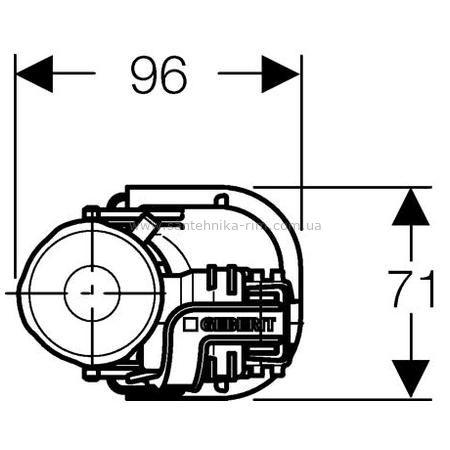 """Купить Механизм наполнения Impuls 360, нижний 1/2"""", Geberit (281.208.00.1)"""