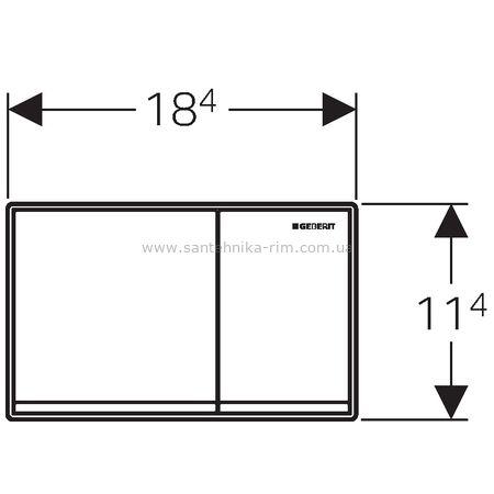 Купить Кнопка смыва Geberit Omega60, белая глянцевая (115.081.SI.1)