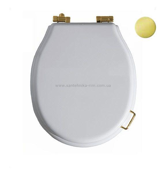 Купить Крышка для унитаза белая золото Simas Lante (LA007ORO)