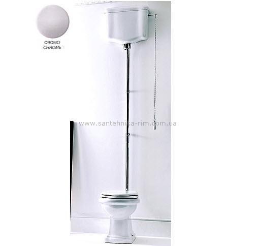 Купить Унитаз с высоким бачком и механизмом хром Kerasan RETRO (1011-1080-7501CR-7502CR)