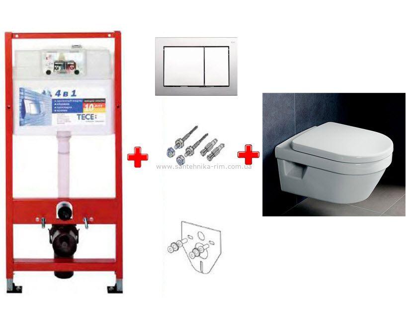 Купить Комплект инсталляции Tece и унитаза Villeroy&Boch Omnia Architectura(9.400.006-5684H101)