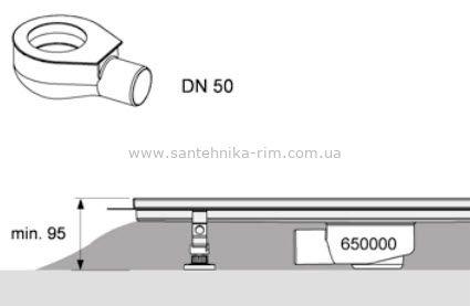 Купить Сифон  DN 50, производительность 0,7л/с TECEdrinline (650000)