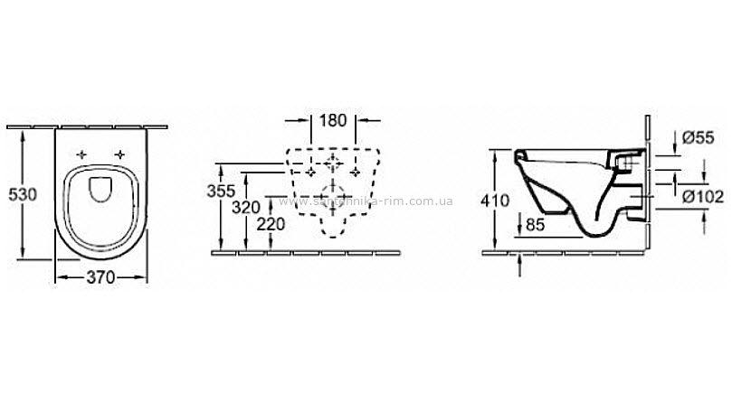 Купить Унитаз подвесной с крышкой Villeroy Boch Omnia Architectura DirectFlush (5684HR01)