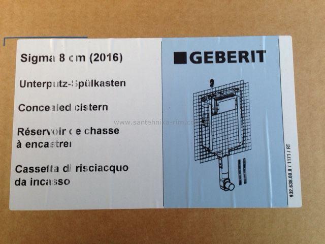 9b40864dc1b70 Бачок для напольного унитаза (8 см) Geberit (109.791.00.1) купить за ...