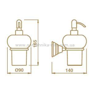 Купить Дозатор подвесной керамика/бронза Canova (CA12892)