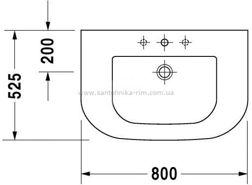 Купить Раковина  80 см Duravit Happy D. (0417800027)