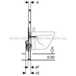 Купить Инсталляция для биде высота 82 см Geberit Duofix (111.524.00.1)