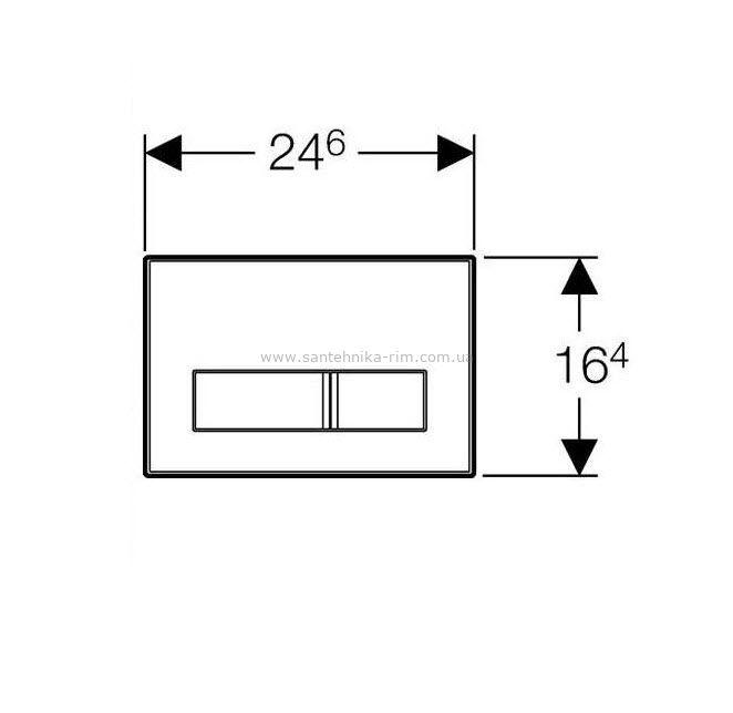Купить Кнопка смыва Sigma50 хром без вкладыша (115.788.00.1/115.788.00.5)