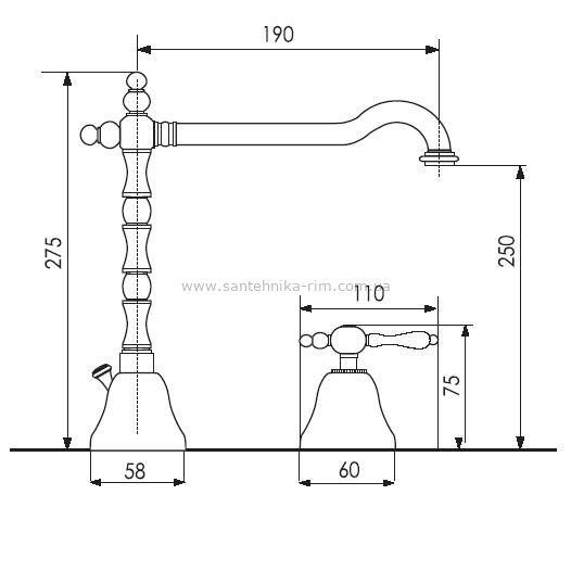 Купить Смеситель для умывальника хром Giulini Praga (7512A)