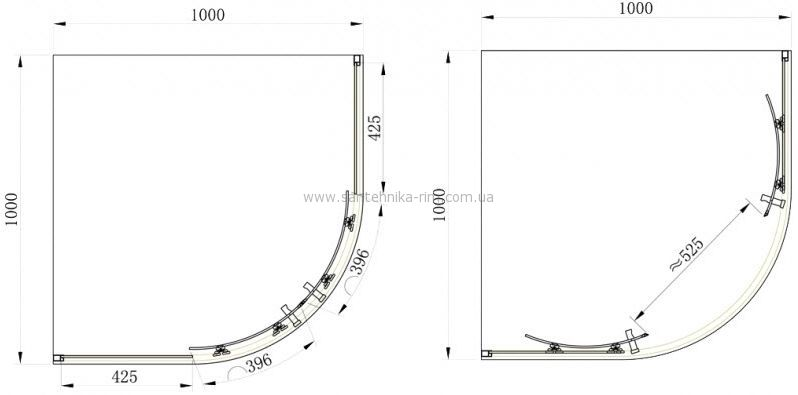 Купить Душевая кабина 100x100 стекло шиншилла Primera Frame (SHQP51106)