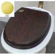 Купить Крышка для унитаза дерево золото Simas Arcade (AR005OR) в santehnika-rim.com.ua