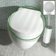 Купить Крышка для унитаза белая хром Globo Bowl (SB022) в santehnika-rim.com.ua