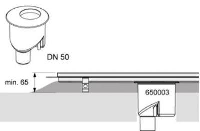 Купить Сифон вертикальный DN 50, производительность 1,3 л/с TECEdrinline (650003) в santehnika-rim.com.ua